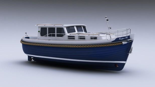 Yachtmodell - vorne